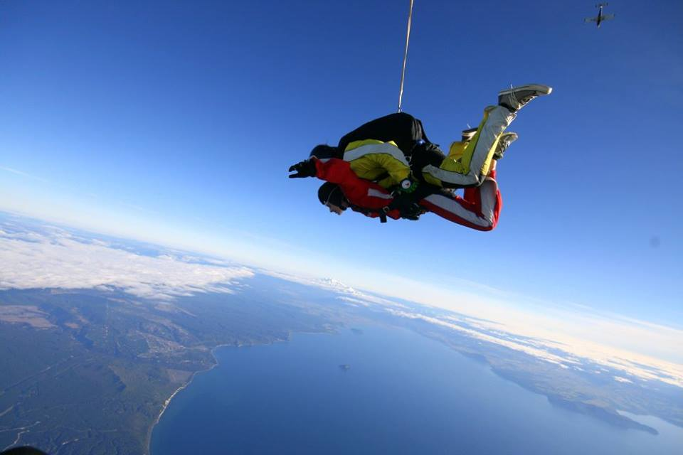 Skydiving taupo, New Zealand