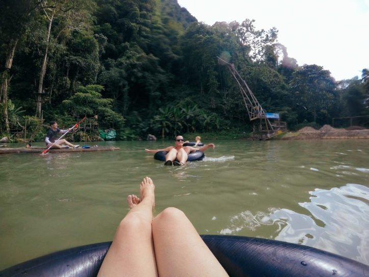 Tubing in Vang Vieng, Laos - Asia Travel