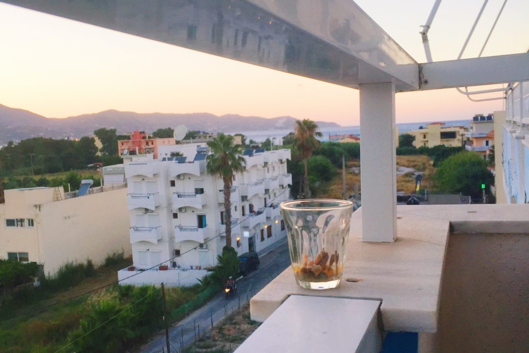 Sunset balcony view in Crete, Greece - Europe Travel | Visit Crete