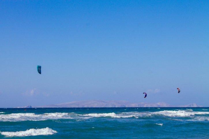 Kite surfingin Ammoudara, Crete, Greece - Europe Travel