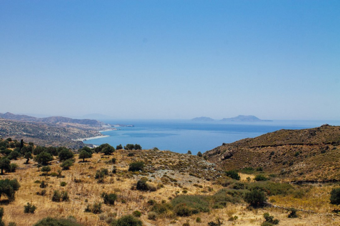 Landscape in Crete, Greece - how big is Crete?