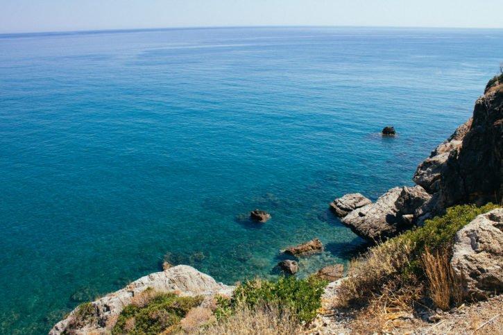 Aquamarine water color in Crete, Greece - Europe Travel