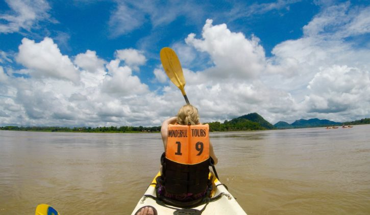 Birthday kayak in Don Det, Laos (4000 Islands) - Asia Travel