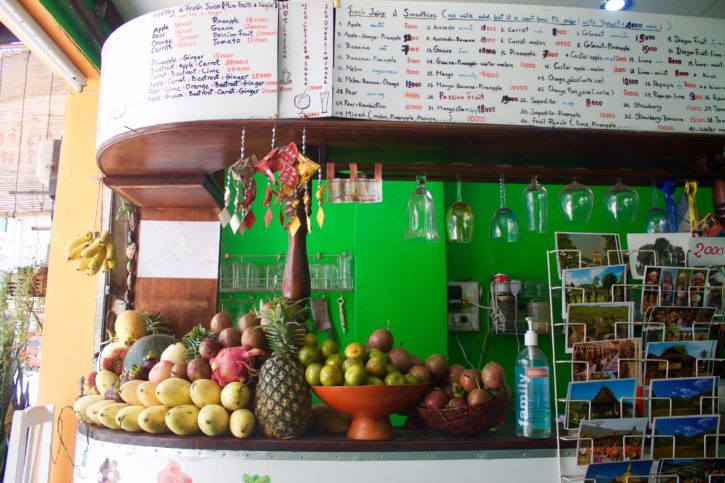 Fresh smoothies in Vientiane, Laos - Asia Travel