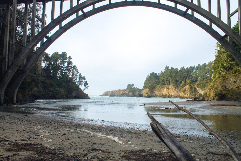 Mendocino Tourism, Russian Gulch State Park | Brewery Gulch Inn location | California | USA Travel