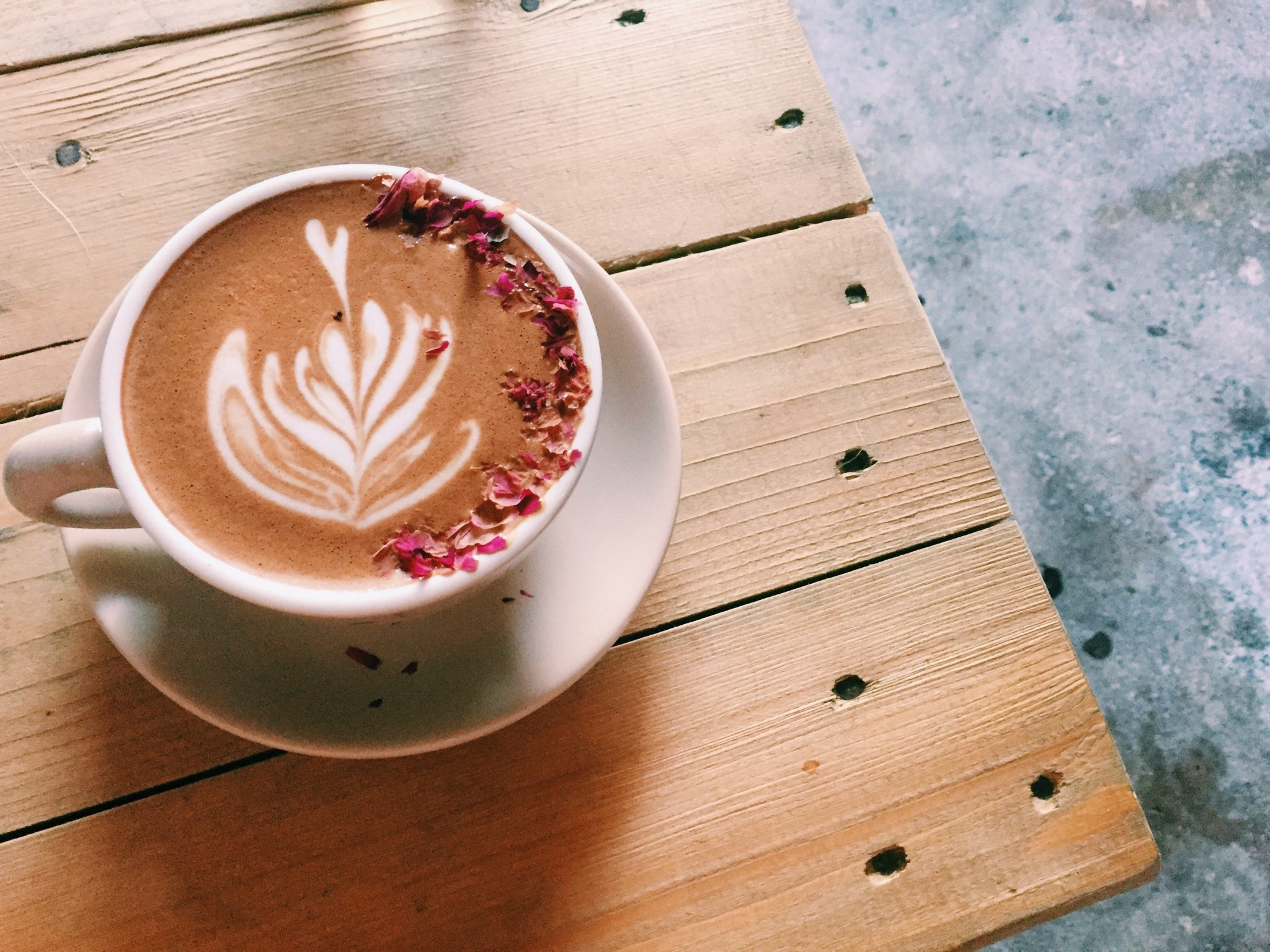 Rose mocha at Beansprout Cafe - Penang, Malaysia | Asia Travel