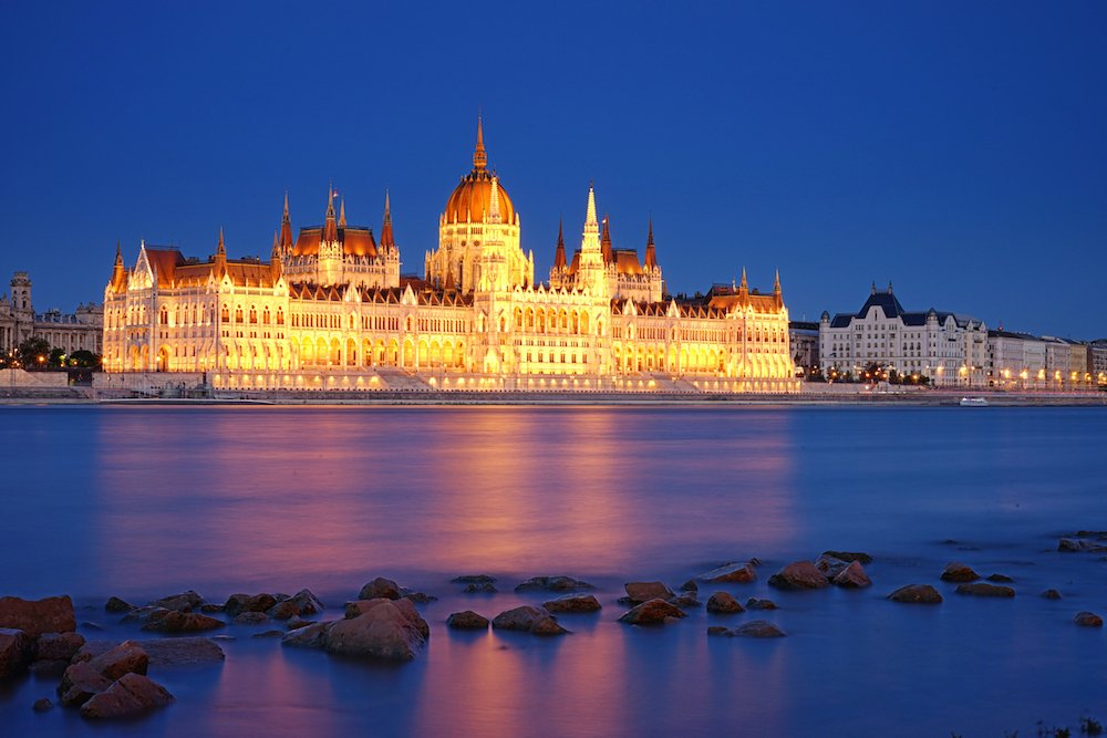 Hungarian Parliament Building at Night | Local Experiences in Budapest, Hungary | Europe Travel