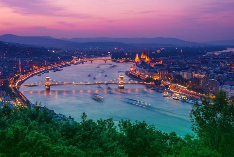 Budapest Skies Sunset Gellert Hill | Local Experiences in Budapest, Hungary | Europe Travel