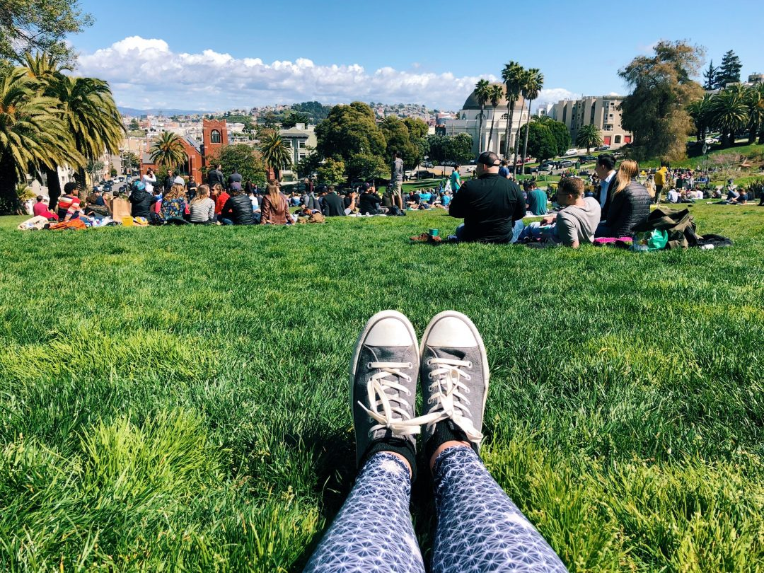 sunday in san Francisco - Dolores park in the mission