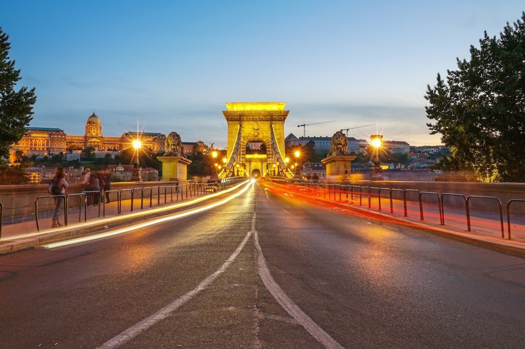 Budapest Chain Bridge at Night | Things to do in Budapest, Hungary | Europe Travel