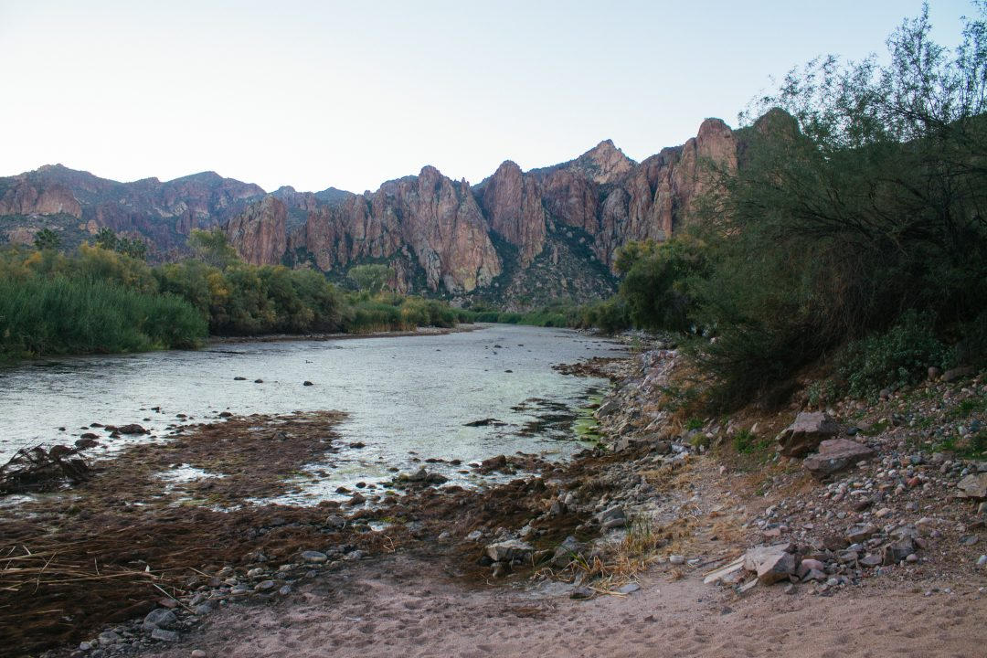 Bulldog Cliffs from Saguaro Lake Guest Ranch | Mesa, AZ