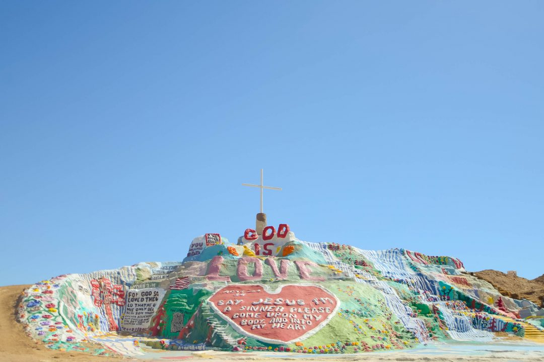 unique things to do in southern California | Salvation Mountain