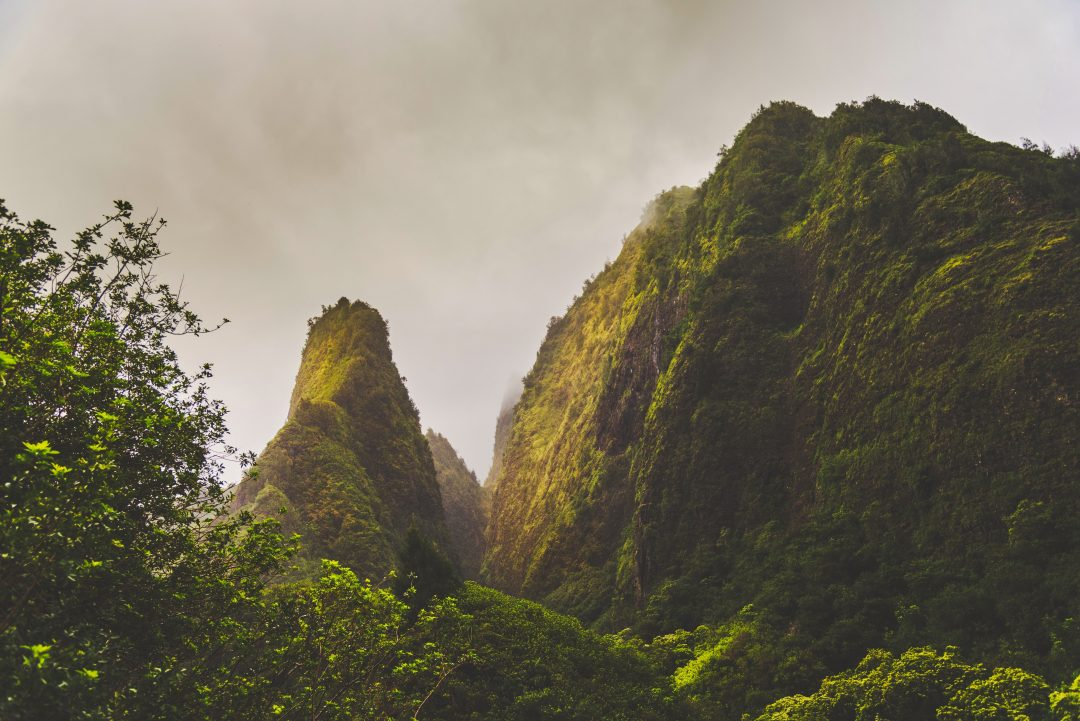 best hiking trails in maui - Iao Valley State Park Trail