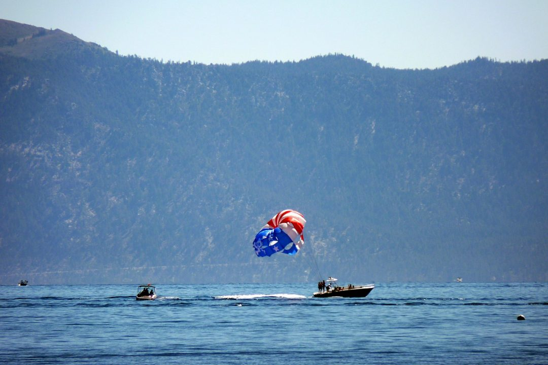 Things to do in Lake Tahoe in summer - Parasailing