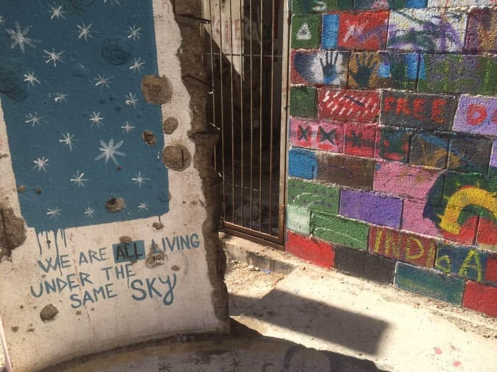Graffiti at Mostar Sniper Tower