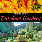 butchart gardens guides in victoria bc, canada