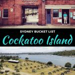 cockatoo island in sydney, australia
