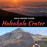 haleakala crater hike in maui, hawaii