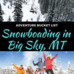 snowboarding in big sky resort, montana