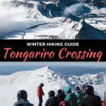 hiking the tongariro crossing in winter in taupo, new zealand