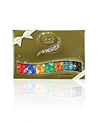 christmas presents for parents - Lindt LINDOR Holiday Deluxe Sampler Assorted Chocolate Truffles