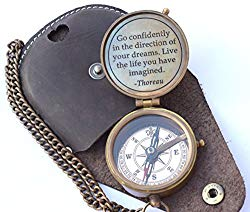 engraved compass gift - vintage compass
