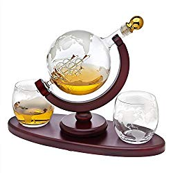 best christmas gifts for dad - globe whiskey decanter