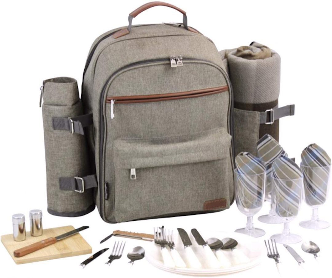 picnic backpack for four - thoughtful gifts for parents