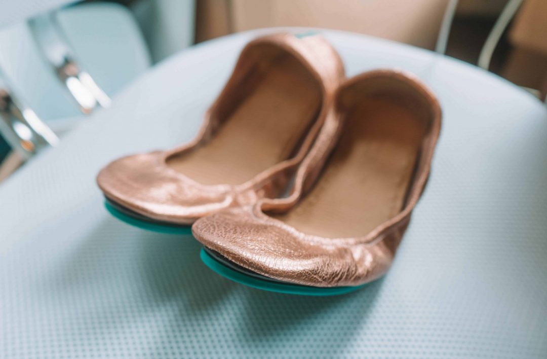 tieks returns & exchanges with my Rose Gold Glam Tieks