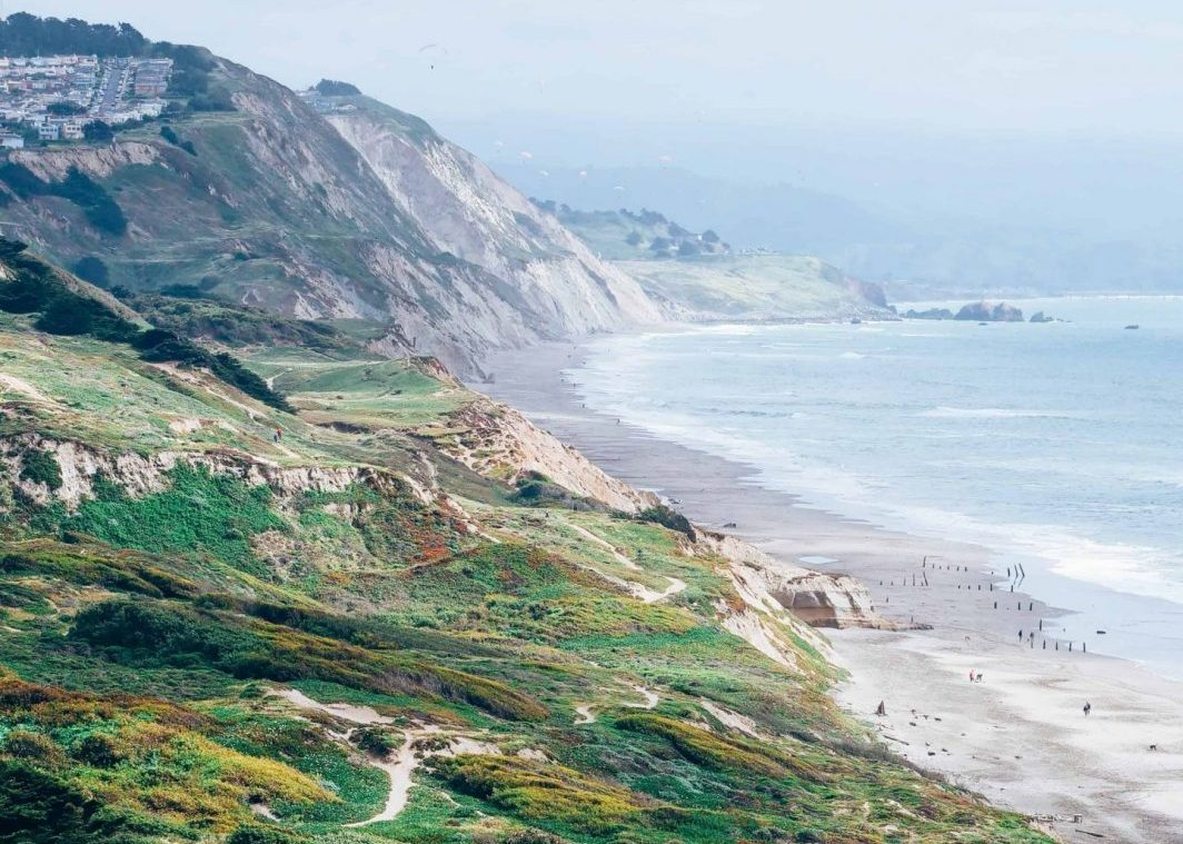 fort funston hike in san francisco