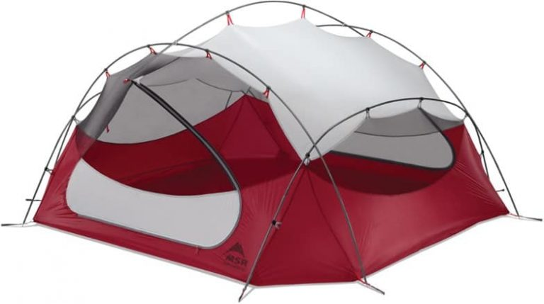 best lightweight 4 person tent - MSR Papa Hubba NX