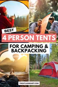 best 4 person tents for camping and backpacking