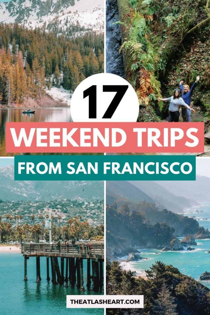 best getaways from san francisco