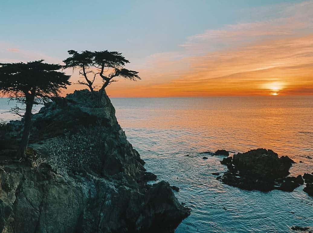 romantic getaways near san francisco - 17 mile drive in monterey