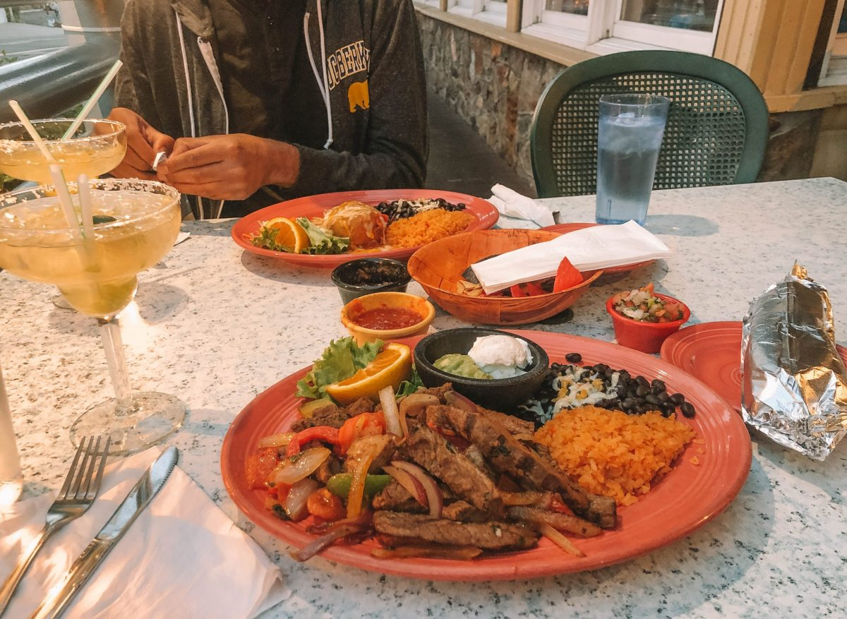 Grabbing dinner in Tahoe City