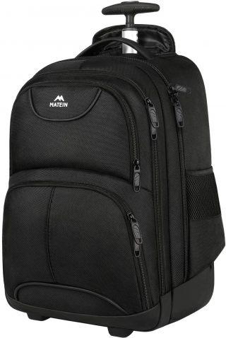 Matein Wheeled backpack - best waterproof rolling backpack