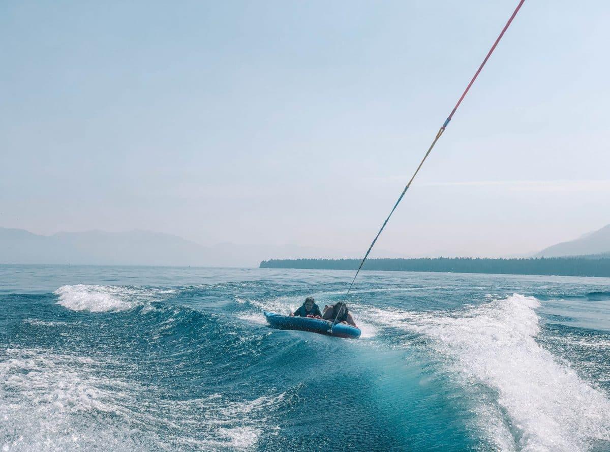 Tubing and Wakeboarding in lake tahoe