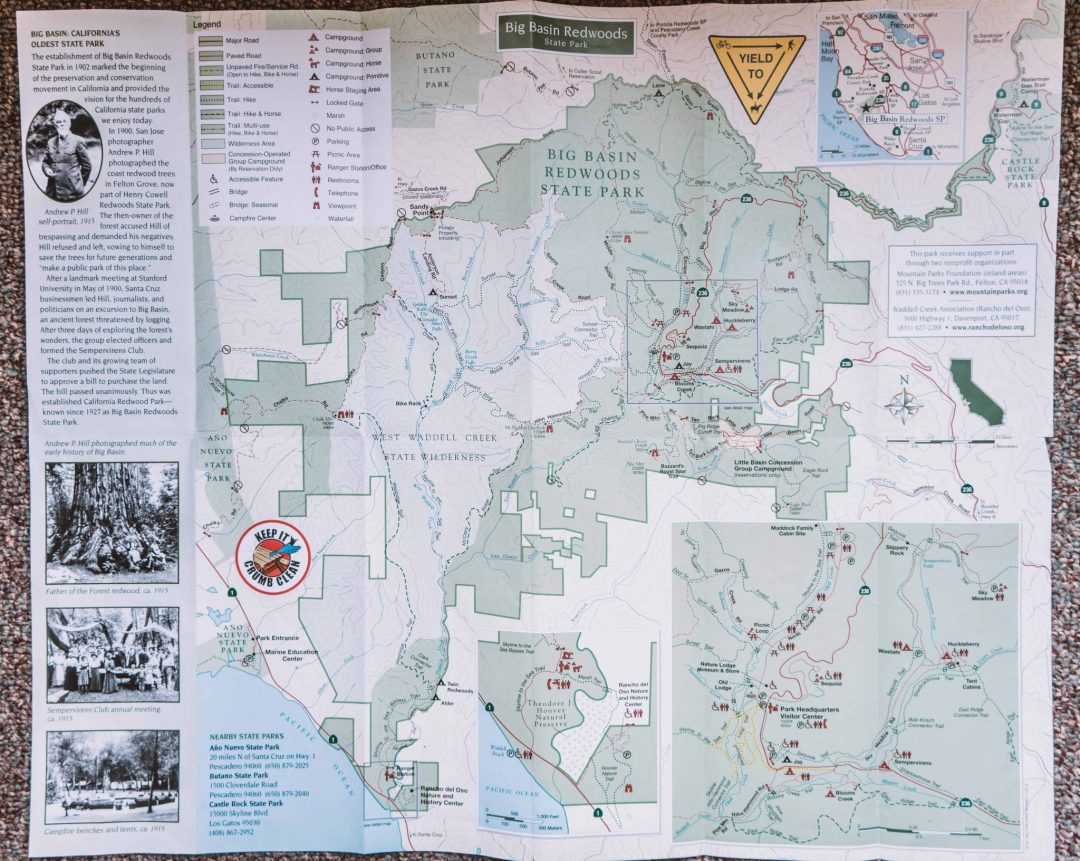 big basin trail map
