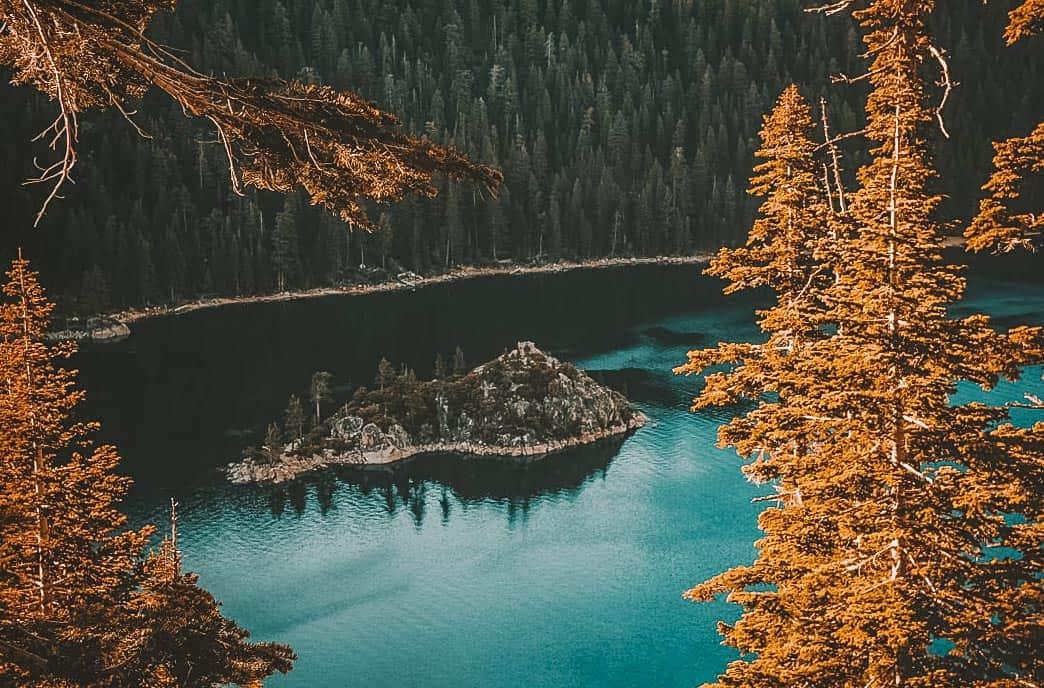 Lake Tahoe summer- Fannette Island