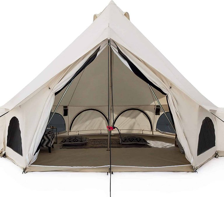 White Duck Canvas Bell Tent best large luxury camping tent