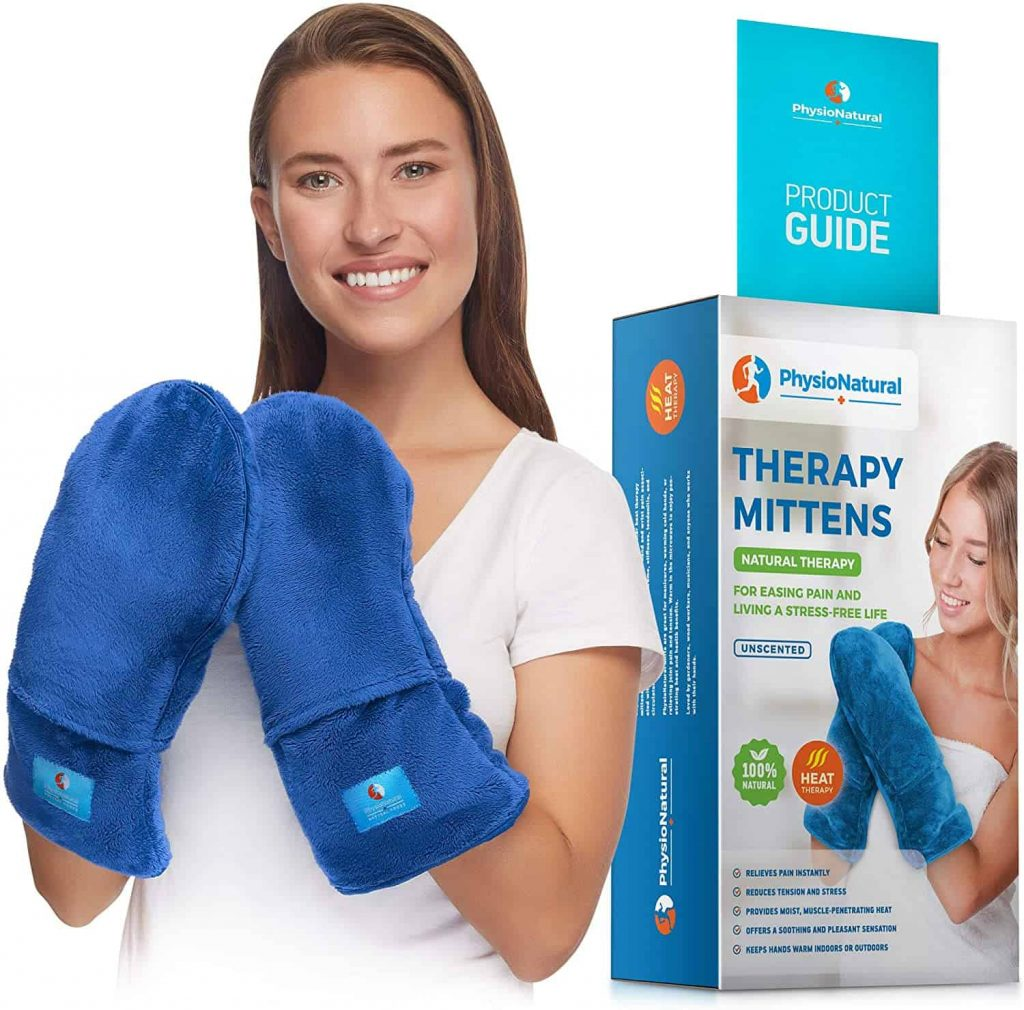 best gloves for arthritic hands - physionatural microwavable therapy mittens