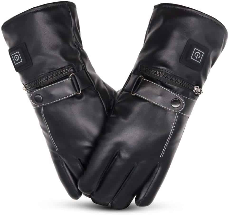 best heated driving gloves - Loiion Heated Leather Gloves