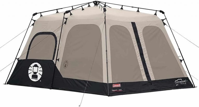 coleman instant family tent - best cabin tent for a large group