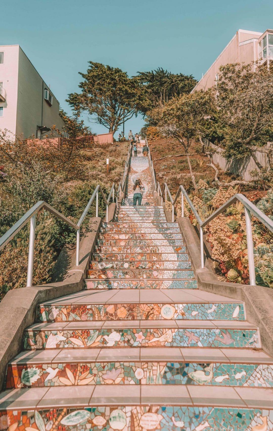 Hidden Staircases in San Francisco, California