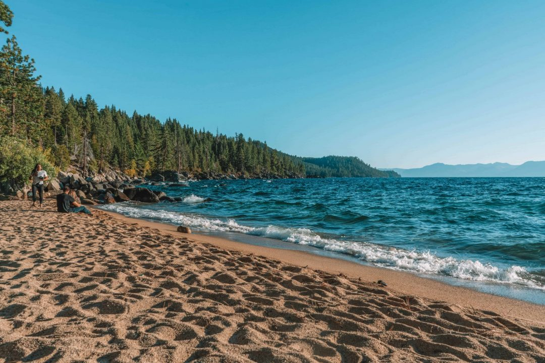 Chimney Beach near Incline Village and Sand Harbor Beach