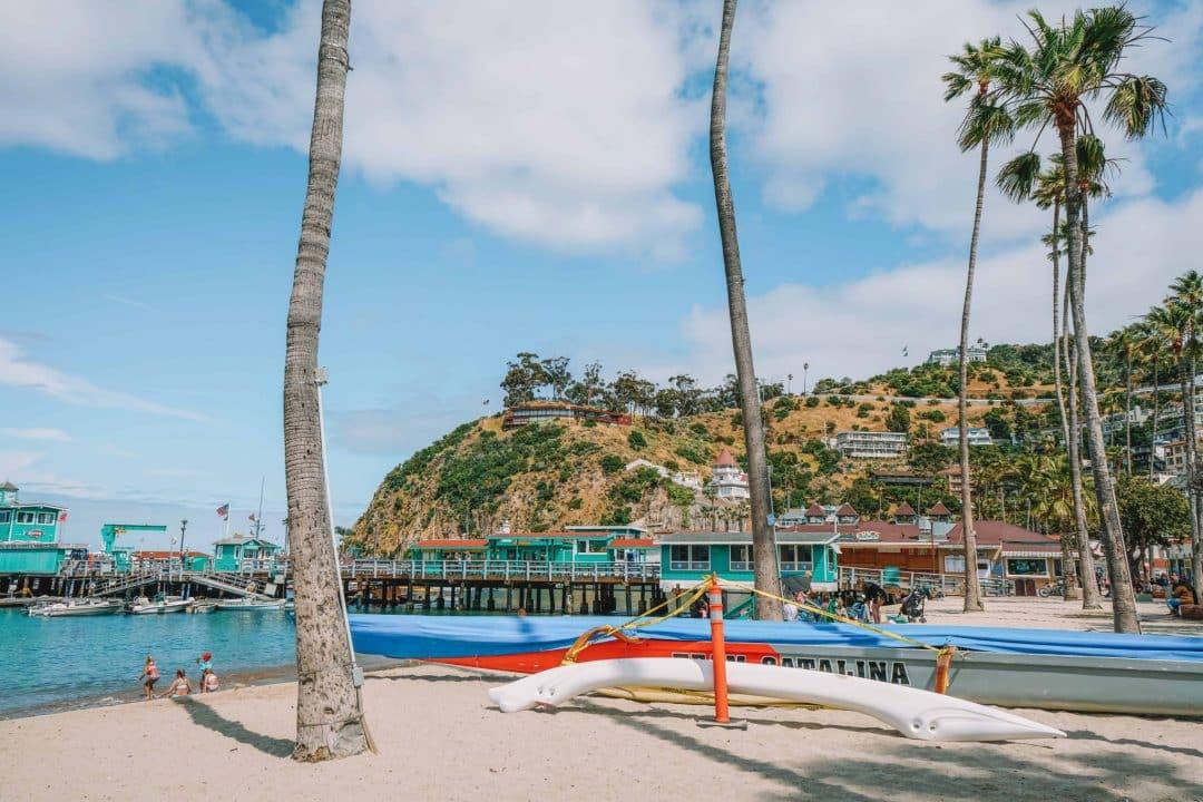 relax on the beach - middle beach on Santa Catalina