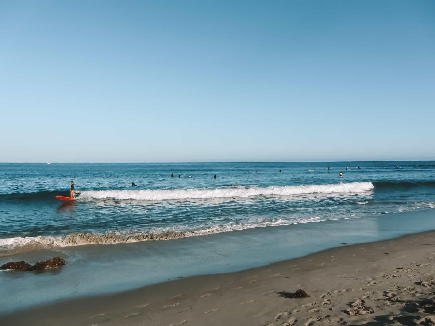 learn paddleboarding at malibu surf coach