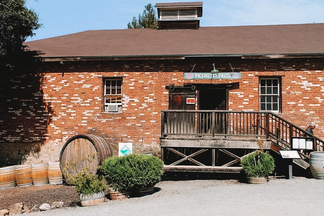 historic Picchetti Winery in Cupertino