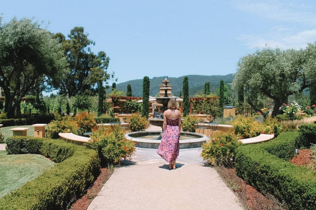 tuscan gardens and architecture at Regale winery