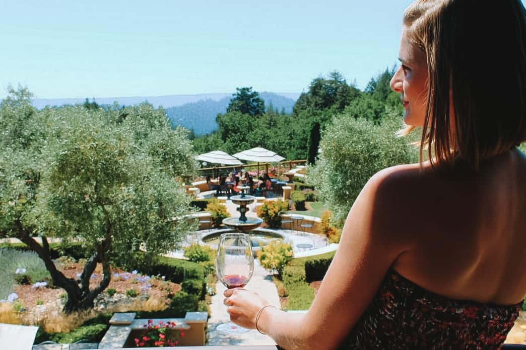 wine tasting in the santa cruz mountains